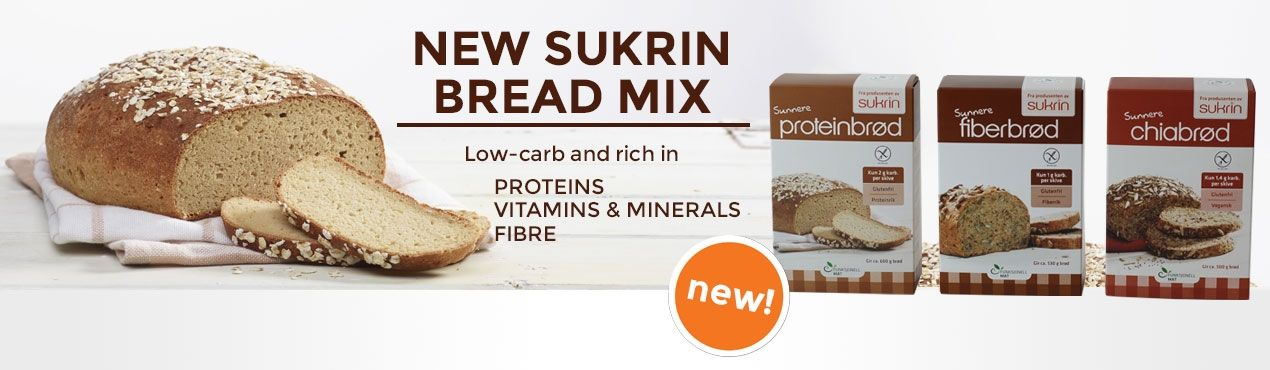 New: Bread mix Sukrin low-carb and rich in proteins, vitamins, minerals and fibre
