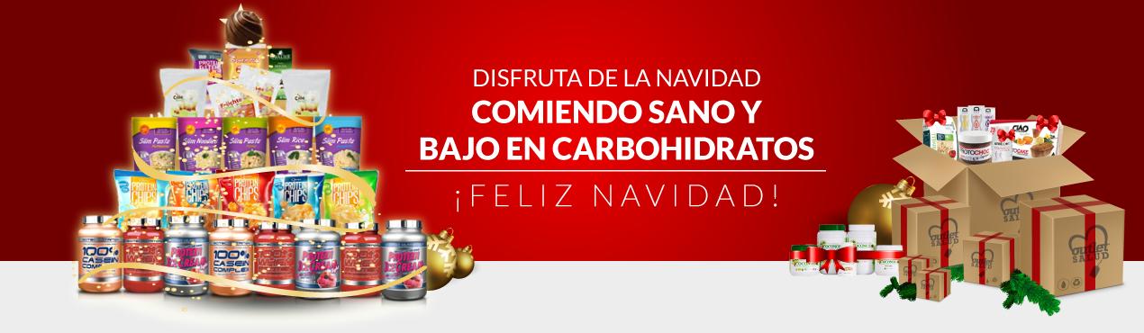 Disfruta de las Navidades comiendo sano y bajo en carbohidratos. ¡Outletsalud.com te desea Feliz Navidad!