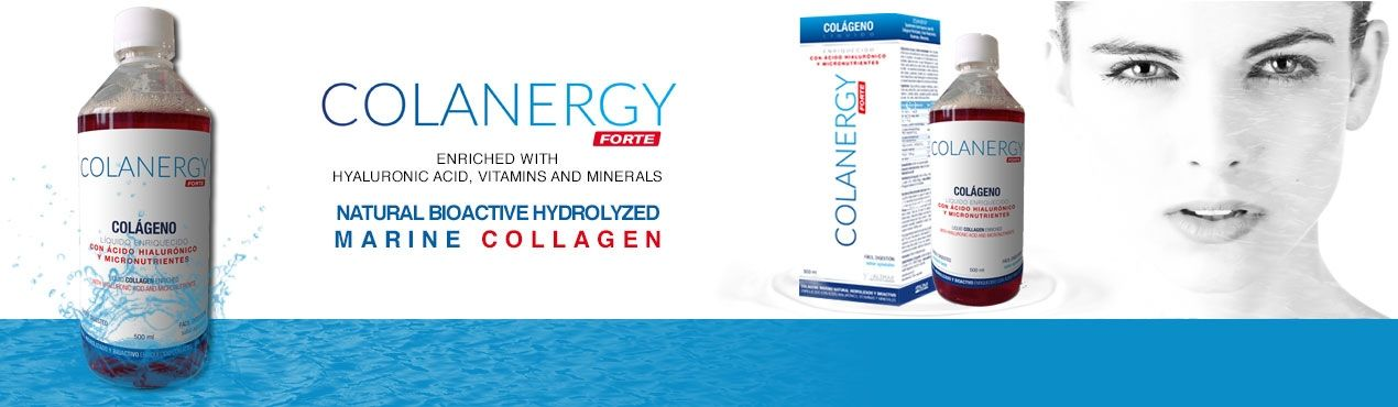 COLANERGY forte: Natural bioactive hydrolyzed marine collagen enriched with hyaluronic acid, vitamins and minerals