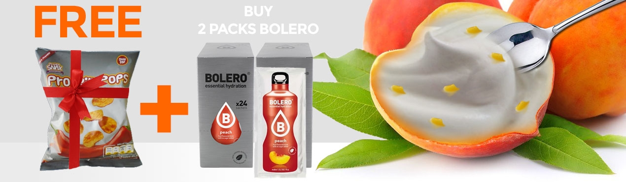At Outletsalud.com we give you a bag of protein pops with the purchase of two bolero packs