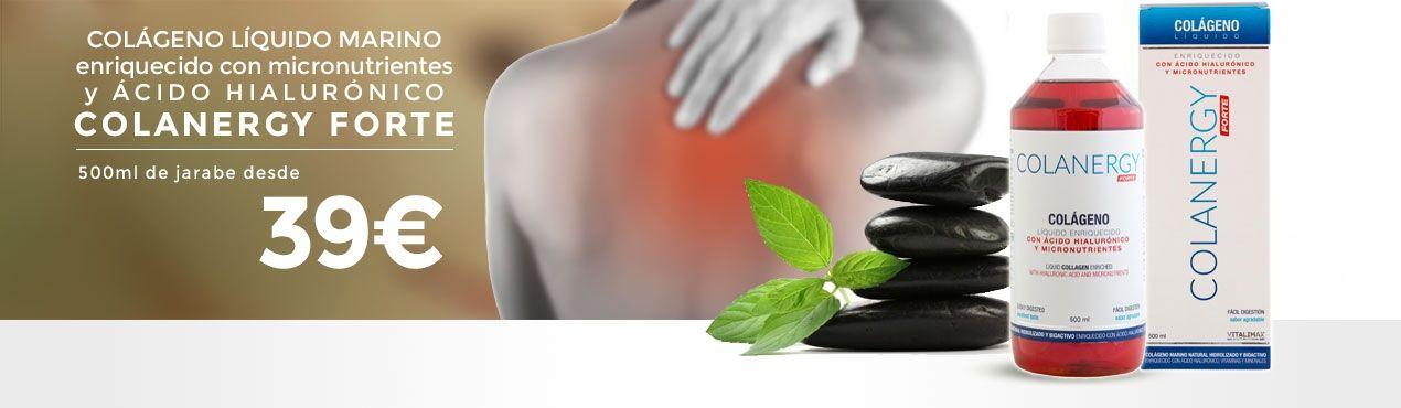 COLANERGY forte: Colágeno marino natural con ácido hialurónico, vitaminas y minerales