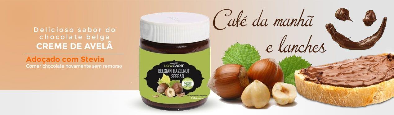 Comer novamente chocolate belga adoçado com estévia pequenos-almoços e almoços